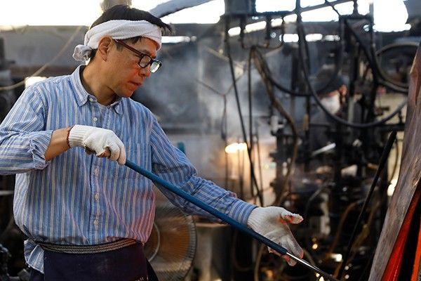 日本の職人の手作りガラス製哺乳びん